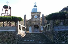 石造りで有名な世界遺産候補の頭島天主堂